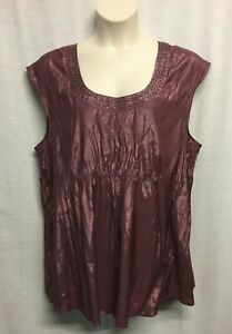 Autograph Plus Size 20 (22-24) Top Blouse Sleeveless Shimmery Party Evening NEW