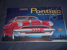 1955 Pontiac Star Chief Chieftian V8 Original Brochure Prospekt