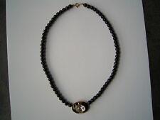 Wunderschöne schwarz-goldene Trifari Collier Kette aus Hinterlassenschaft
