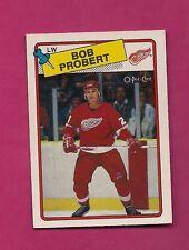 1988-89 OPC  # 181 RED WINGS BOB PROBERT ROOKIE NRMT+ CARD (INV# A5741)