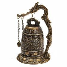 National Handmade Brass Bell Carved Dragon Buddhist Buddha's Clock Bronze G Zh6