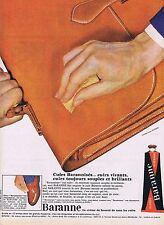 PUBLICITE ADVERTISING 015 1965 BARANNE cirage en tube pour le cuir