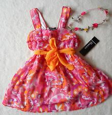 Baby Mädchen Sommer Kleid 🐞 2tlg + Haarband 🐞 Georgette 🐞 98/104
