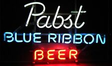 "New Pabst Blue Ribbon Beer Bar Logo Neon Light Sign 20""x16"""