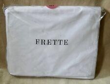 Frette King 4 piece 100% Cotton White Percale Sheet Set