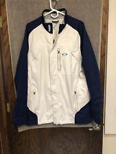 Oakley Defend Rain Jacket Coat White Blue HYDROFUSE Men's Sz XL