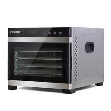 Devanti 6 Trays Commercial Food Dehydrator 304 Stainless Steel Fruit Dryer