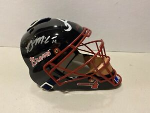Brian McCann Signed Atlanta Braves Mini Catcher Mask RADTKE
