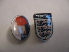 RARE OLD ENGLAND FOOTBALL ASSOCIATION METAL PRESS PIN BADGES