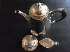 DECO 1928 Georg Jensen Johan Rohde 3P sterling silver coffee tea set  Pattern 45