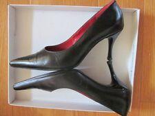 *Högl Black Pointed Toe Leather Pump Shoe Classic Heel Size 5 (EU) 37,5 7,5 (US)