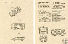 Transformers RED ALERT & SIDESWIPE US Patent Art Print READY TO FRAME! Autobot