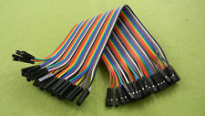 80PCS 50cm Dupont Wire Connector Cable Female to Female 1P-1P 2.54mm Jumper