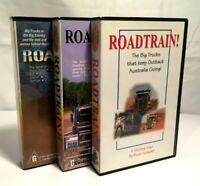 RARE!! Bruce Honeywill Truck: VHS VIDEO TAPE LOT x3 (Roadtrain !, II & 99) VGC