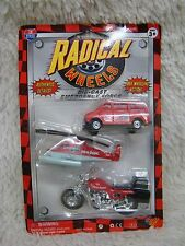 1998 Radical Wheels Emergency Force Van Helicopter & Cycle, Nib Collectible Cars