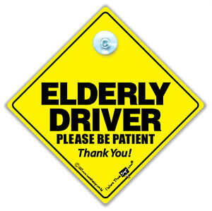 ELDERLY DRIVER Car Sign, Joke Car Sign For Old Drivers, Baby on Board Sign,