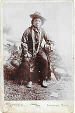Cabinet Photo of a Kickapoo Indian Brave in Fancy Dress – Genoa Nebraska c1900