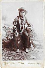 Cabinet Photo of a Kickapoo Indian Brave in Fancy Dress – Genoa Nebraska c1900