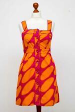 Damen MARIMEKKO for H&M Baumwolle Orange & Rosa  Ärmellos Kleid Dress Gr. 38