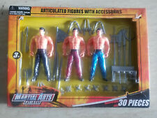 Martial Arts Play set 30 Pieces Articulated Figures With Accessories Swords.