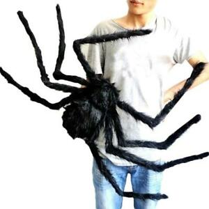 19.7inch Huge Giant Black Spider Halloween Haunted House Party Props Decor