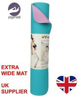 EXTRA WIDE DOUBLE sided Classic Pro Yoga Mat TPE Eco Friendly Non Slip fitness