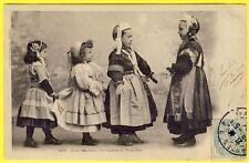 cpa BRETAGNE 29 - PONT l' ABBÉ et PLUGUFFAN (Finistère) Costumes JEUX d' ENFANTS