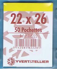 1 Blister 50 Pochettes transparentes simple soudure 22x26