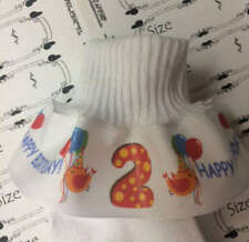 Ruffle Socks 4 Birthday Party Colorful Candles Choose your own numbers Grosgrain
