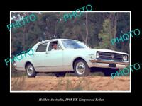LARGE HISTORIC PHOTO OF GM HOLDEN, 1968 HK HOLDEN KINGSWOOD SEDAN PRESS PHOTO