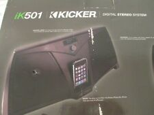 Kicker iK501 Digital Stereo System for iPhone and iPod Dock Station Box Remote