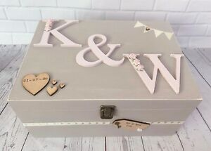 Personalised Luxury Large Wedding Wooden Memory - Keepsake Box Gift