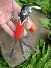 German Volkswagen VW Bus SAMBA Transporter Bulli Pocket Knife 14 in 1 RED/BLACK