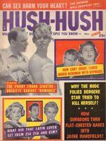 Hush-Hush November 1958 Zsa Zsa Gabor Cary Grant Brigitte Bardot 012519DBE