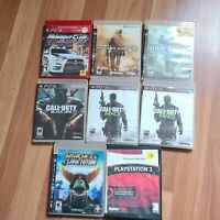 PS3 Video Game Lot of 8 Scratched Games call of duty black ops & MW3 playstation