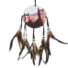 Oil Painting Dream Catcher with Feathers Wall Hanging Decor-Horse Dreamcatcher