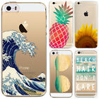 Transparent Hard Back Clear Pattern Case Cover For iPhone 5S 5C 6 6 plus 7 Plus