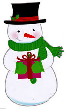 "7"" SNOWMAN  CHRISTMAS HOLIDAY WINDOW CLING DECAL CUT OUT CHARACTER"
