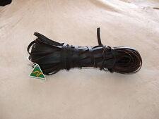 Kangaroo Lace / Thonging 6mm x 25 Metres - Black Waxed