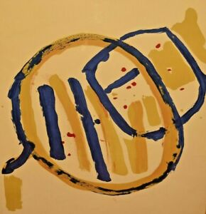Original Signed Vintage Pierre Tal Coat Mid Century Modern Abstract Lithograph