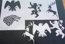 #8 Juego de Tronos Arryn Stark Lannister Sigil Aerógrafo STENCILS pintura Baratheon