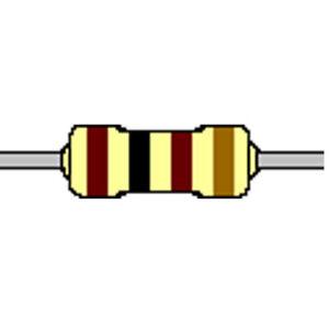 Kohleschicht-Widerstand 100 Ohm 5% 0,25W Bauform 0207 gegurtet
