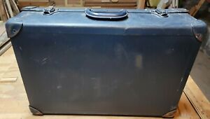 Vintage 1964 Fibreboard, Steel & Leather Valise Suitcase Salesman's Sample Case