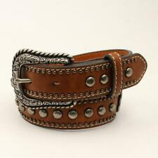 Ariat Girls Brown Studded Leather Belt A1306402