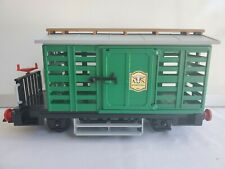 Rare Playmobil LGB 4121 Western Cattle Wagon Green Railroad Train Car