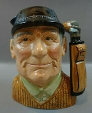 "1970 Royal Doulton Character Toby Jug ""The Golfer"" D6623 ~Large 7.5"" ~Excellent"