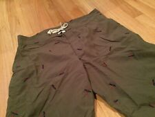 Woolrich Fly Fishing Lightweight Shorts Mens Large Green Outdoor Board