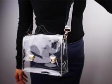 2018 New Fashion PVC Transparent Bag Womens Crossbody Messenger Clutch Handbag