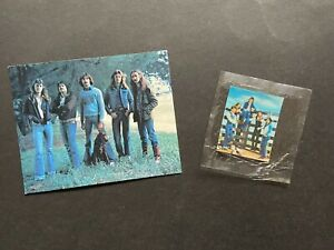 CEREAL NABISCO VINTAGE ROCK SWAPS CARD & LENTICULAR CARD IN PACK FROM BAND STARS