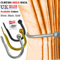 QUALITY LARGE STYLISH CURTAIN HOLD BACK Metal Tie Tassel Arm Hook Loop Holder